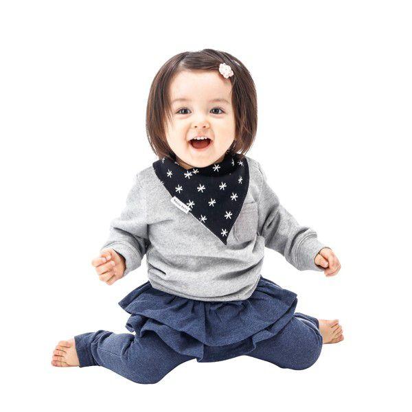Bazzle Baby バズルベビー バンダビブ2枚セット/ブラックスター スタイ 857949007269