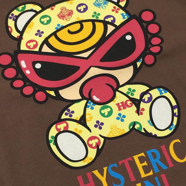 Hysteric mini ヒステリックミニ 20秋冬 TEDDY MINI MONOGRAM柄 BIGトレーナー 105cm〜120cm h10343118a