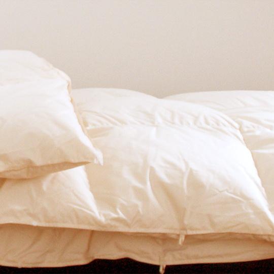 ハンガリーホワイトマザーグースダウン93%×アルファイン洗える羽毛布団・オールシーズン クイーン