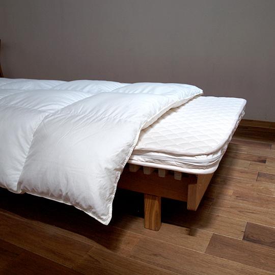 ハンガリーホワイトマザーグースダウン93%×ふわふわ洗える羽毛布団・合掛け セミダブル