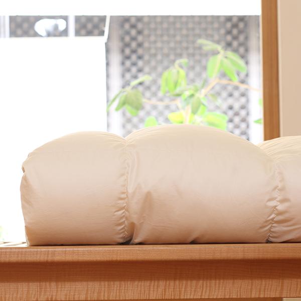ハンガリーホワイトマザーグースダウン93%×ふわふわ洗える羽毛布団・本掛け・アルティキルト クイーン