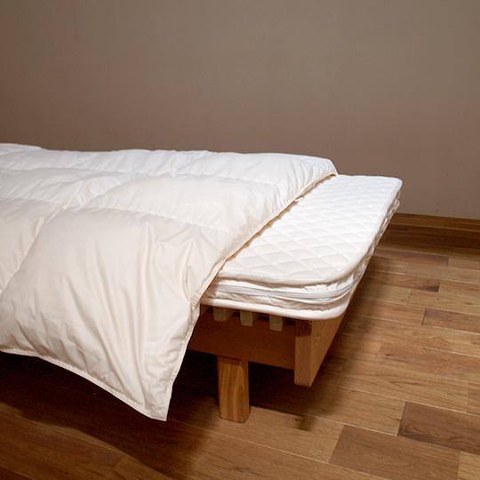 ハンガリーホワイトマザーグースダウン93%×アルファイン洗える羽毛布団・合掛け クイーン