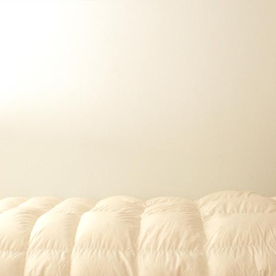 ハンガリーホワイトマザーグースダウン93%×ふわふわ洗える羽毛布団・本掛け・アルティキルト セミダブル
