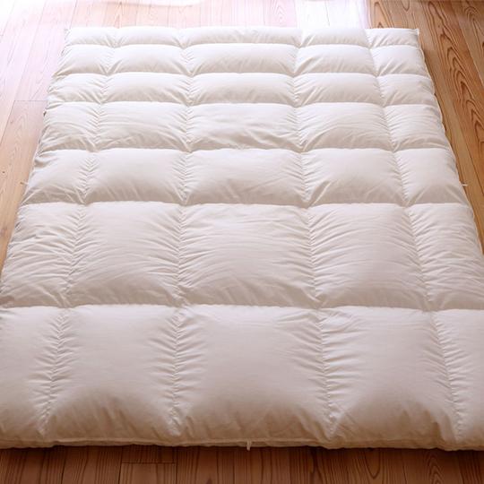 ハンガリーホワイトマザーグースダウン93%×ふわふわ洗える羽毛布団・本掛け・アルティキルト シングル