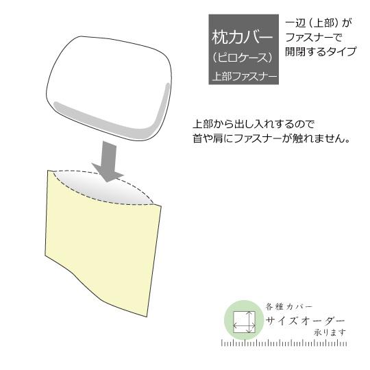 60サテン ストライプカバーシリーズ 枕カバー 43×63cm (63cmファスナー)