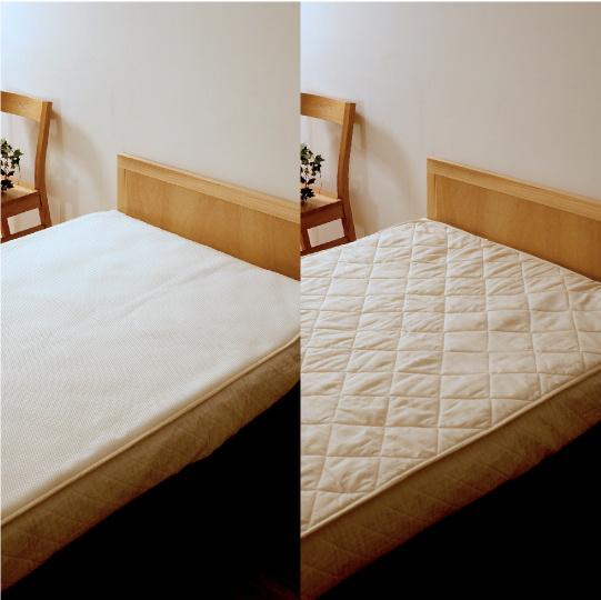 洗える羊毛ベッドパッド【ウールフィーユ×ハニカムメッシュ】 セミダブル