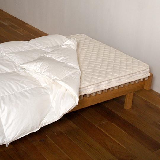 ハンガリーホワイトマザーグースダウン93%×100サテン羽毛布団・肌掛け セミダブル