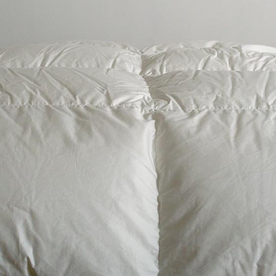 ハンガリーホワイトマザーグースダウン93%×100サテン羽毛布団・合掛け クイーン