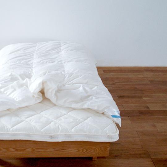ポーランドオーガニックホワイトマザーグースダウン95%×テンセル羽毛布団・肌掛け セミダブル