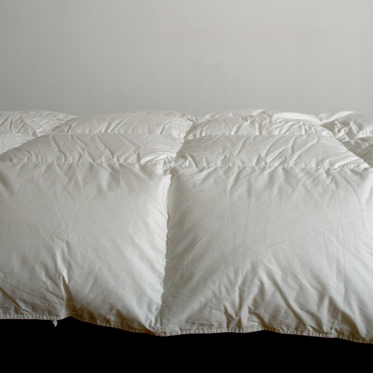 ハンガリーホワイトマザーグースダウン93%×100サテン羽毛布団・合掛け シングル