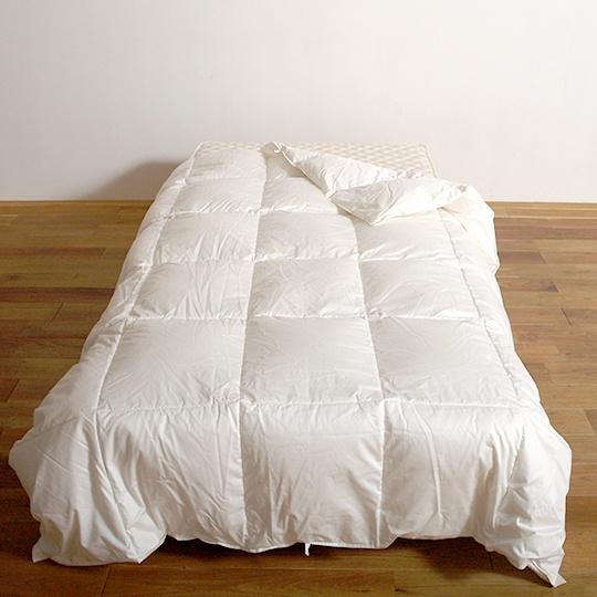 ハンガリーホワイトグースダウン93%×100サテン羽毛布団・肌掛け ダブル