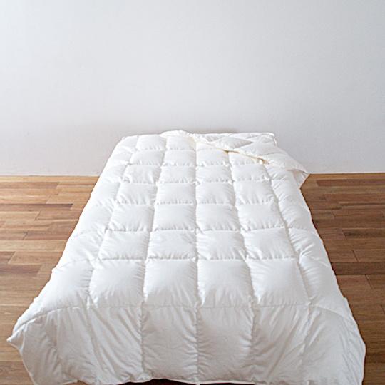 ハンガリーホワイトマザーグースダウン93%×ふわふわ洗える羽毛布団・肌掛け セミダブル