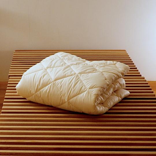 洗えるウールのベッドパッド ワイドダブル