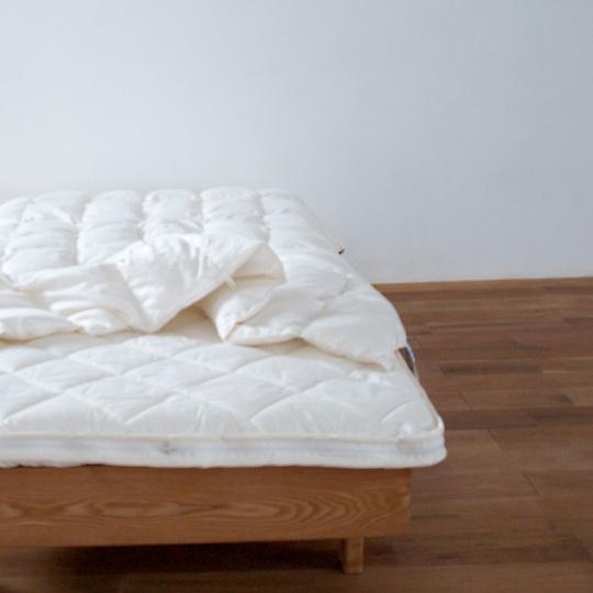 ハンガリーホワイトマザーグースダウン93%×ふわふわ洗える羽毛布団・肌掛け シングル