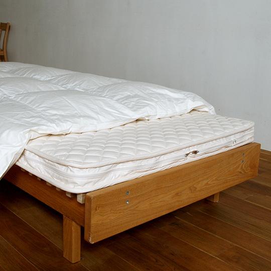 ハンガリーホワイトグースダウン93%×100サテン羽毛布団・合掛け クイーン