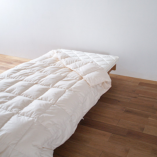 ハンガリーホワイトマザーグースダウン93%×アルファイン洗える羽毛布団・肌掛け ダブル
