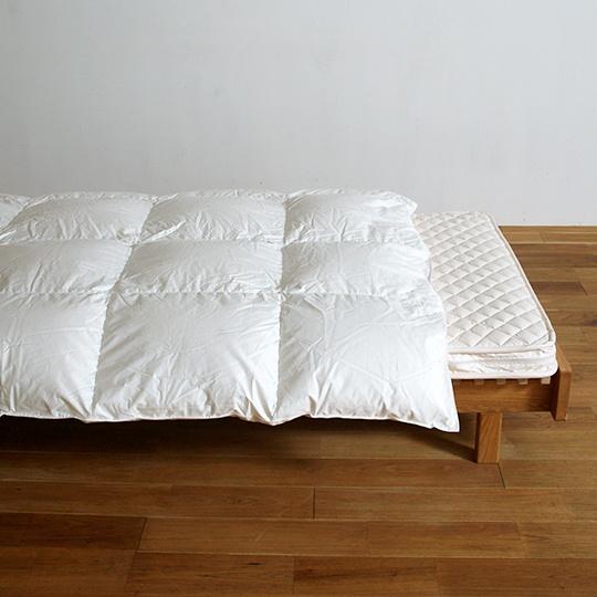 ハンガリーホワイトグースダウン93%×100サテン羽毛布団・合掛け シングル