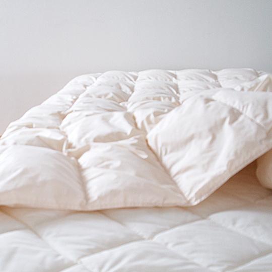 ハンガリーホワイトマザーグースダウン93%×アルファイン洗える羽毛布団・肌掛け シングル