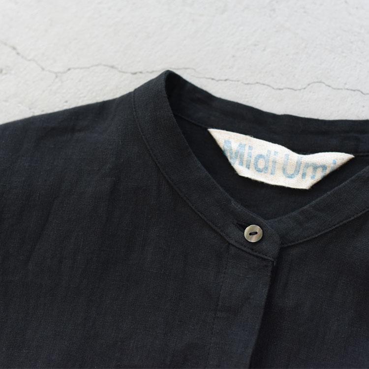 MidiUmi(ミディウミ)/LINEN BACK GATHER SHIRT リネンバックギャザーシャツ【2021春夏】