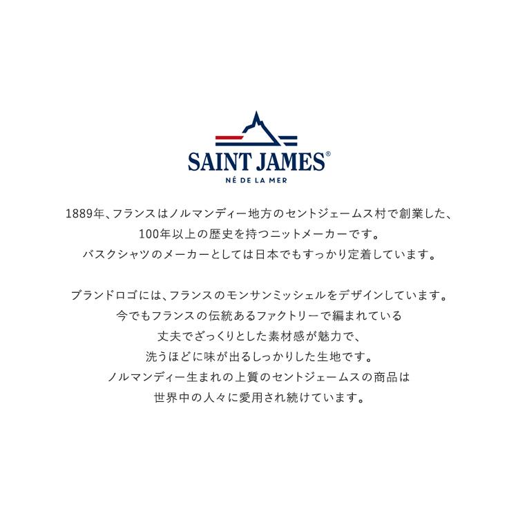SAINT JAMES(セントジェームス)/OUESSANT ウエッソン 無地 長袖Tシャツ【2021秋冬】
