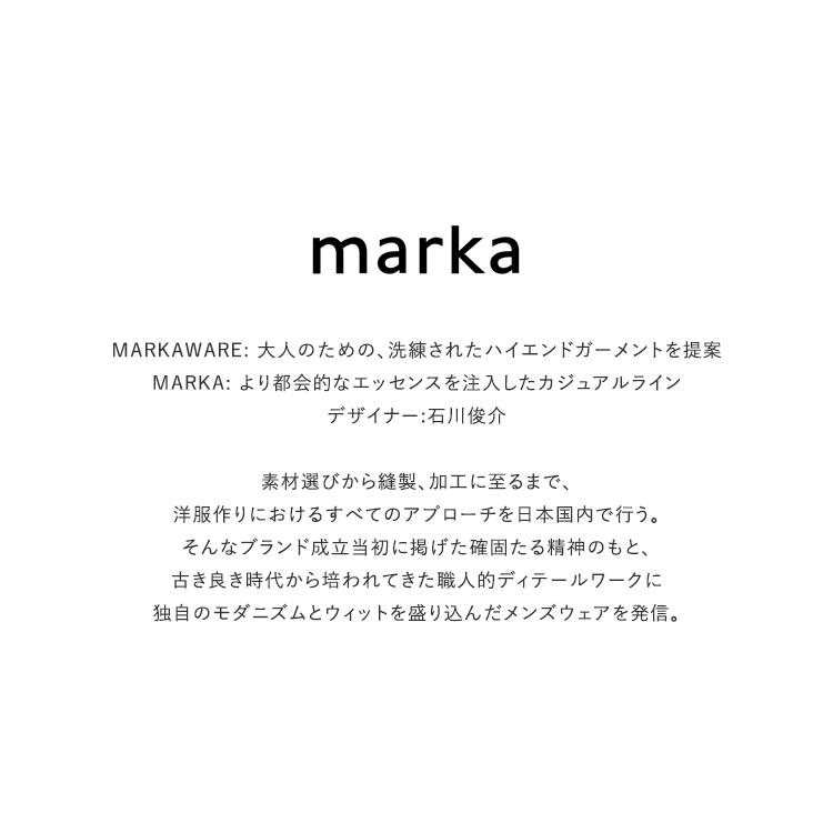 marka(マーカ)/2TUCK STRAIGHT FIT TROUSERS ツータックストレートフィットトラウザーズ【2021秋冬】