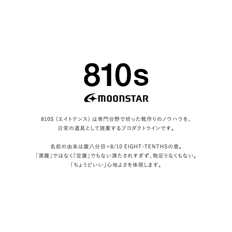 moonstar810s(ムーンスター810s)/HOSP VENT【2021春夏】
