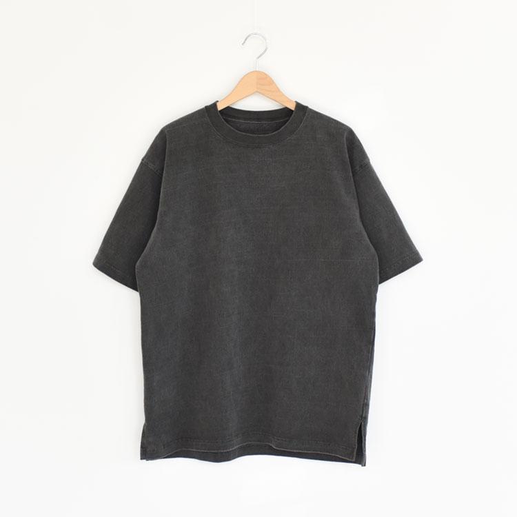 hobo(ホーボー)/ARTISAN S/S CREW NECK TEE COTTON HEAVYWEIGHT JERSEY CHARCOAL DYED クルーネックTシャツ【2021秋冬】