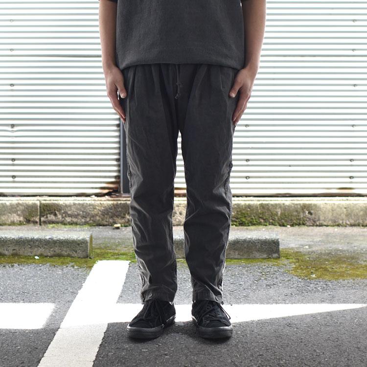 hobo(ホーボー)/ARTISAN EASY PANTS COTTON TWILL CHARCOAL DYED コットンツイルイージーパンツ【2021秋冬】