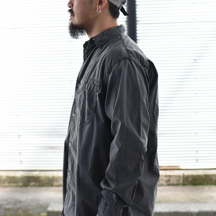 hobo(ホーボー)/ARTISAN L/S SHIRT COTTON BROAD CHARCOAL DYED コットンブロードシャツ【2021秋冬】