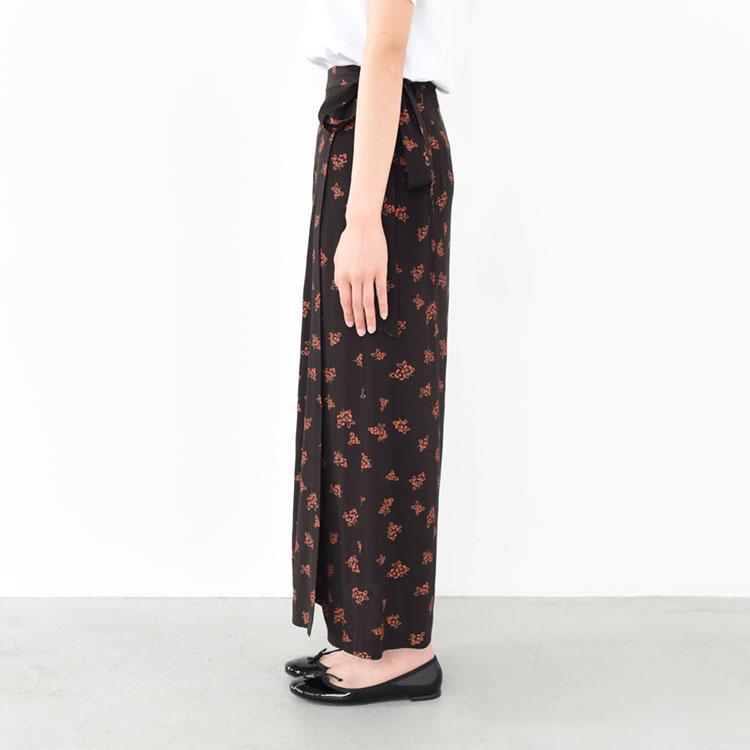THE SHINZONE(ザ シンゾーン)/FLOWER WRAP SKIRT フラワーラップスカート【2021春夏】