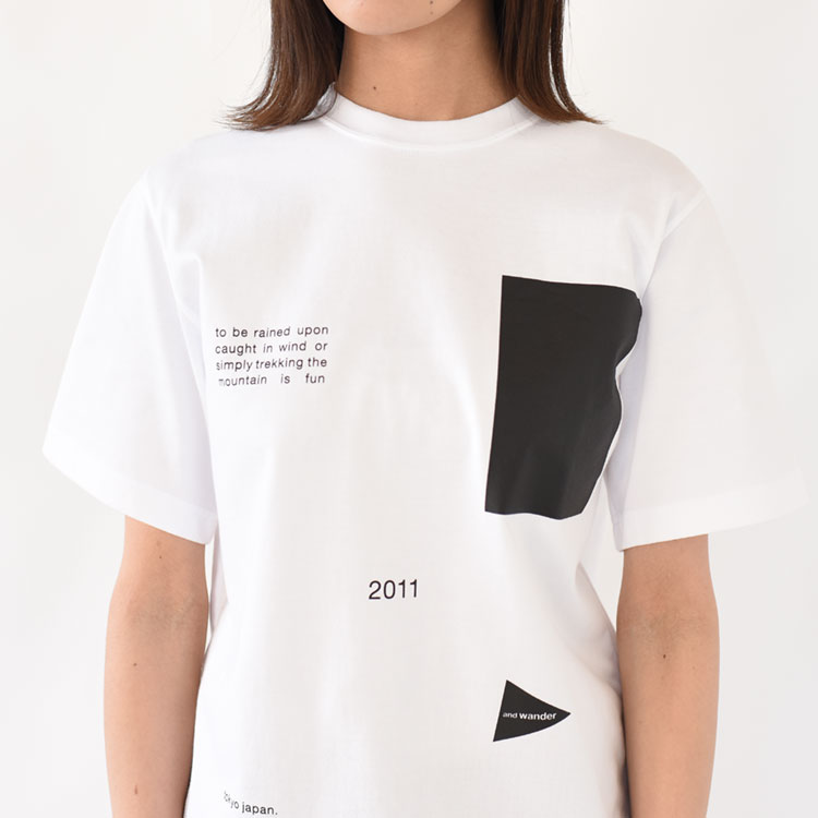 and wander(アンドワンダー)/COMPOSITION T コンポジションティーシャツ/レディース【2021春夏】