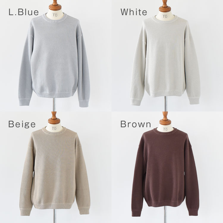 【SALE 30%OFF】crepuscule(クレプスキュール)/Moss stitch L/S sweat モスステッチロングスリーブスウェット/メンズ/crepuscule 通販/クレプスキュール 通販/クレプスキュール ニット/クレプスキュール 20aw【2020秋冬】【返品交換不可】