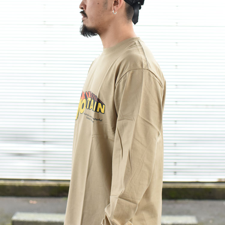 【SALE 20%OFF】and wander(アンドワンダー)/MOUNTAIN BY JERRYUKAI L/S マウンテンバイジェリーユカイロングスリーブ【2021春夏】【返品交換不可】