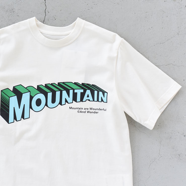 【SALE 20%OFF】and wander(アンドワンダー)/MOUNTAIN BY JERRYUKAI S/S マウンテンバイジェリーユカイショートスリーブ【2021春夏】【返品交換不可】