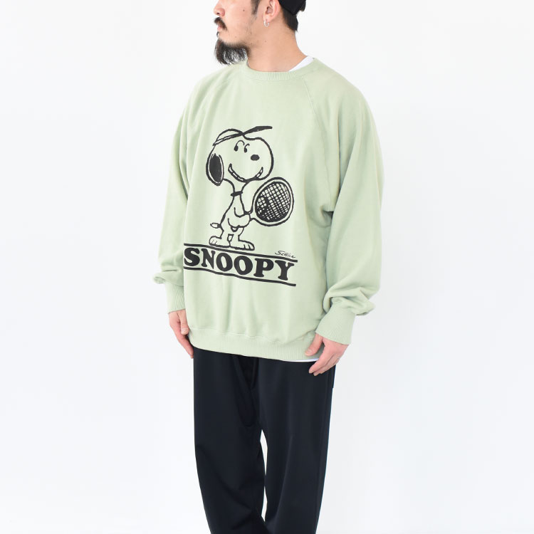 """【SALE 30%OFF】VOTE MAKE NEW CLOTHES(ヴォートメイクニュークローズ)/SNOOPY/CHARLIE BOTH """"A"""" CREW SWT/メンズ/vote make new clothes 通販/vote make new clothes スヌーピー【返品交換不可】"""