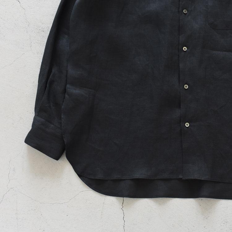 MARKAWARE(マーカウェア)/COMFORT FIT BAND COLLAR SHIRT - HEMP SHIRTING - コンフォートフィットバンドカラーシャツ【2021春夏】