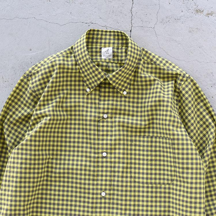 ANATOMICA(アナトミカ)/BD SHIRT POPLIN PLAID ボタンダウンシャツポプリンプレイド/メンズ【2021春夏】