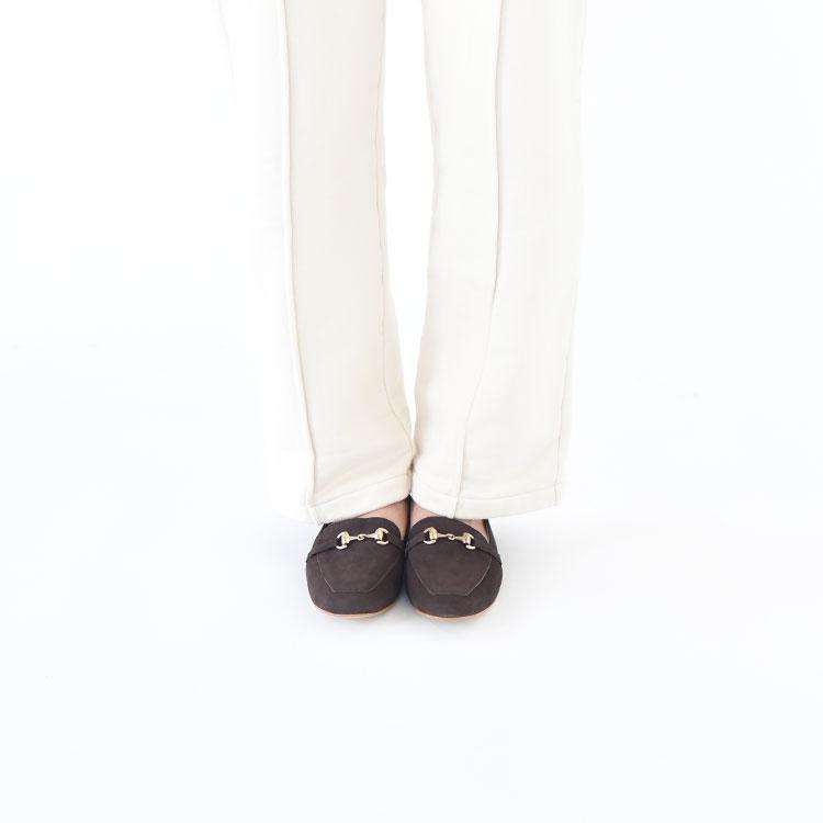 MOHI(モヒ)/ビット付きスエードローファー/レディース/mohi ブーツ/mohi ショートブーツ 通販/mohi 通販【2020秋冬】