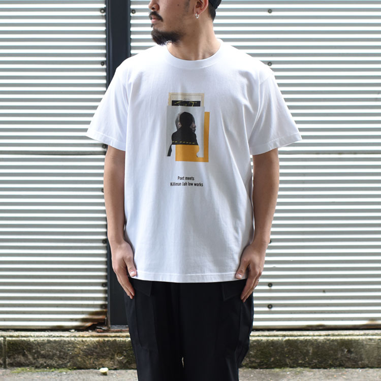 POET MEETS DUBWISE(ポエトミーツダブワイズ)/KILLIMAN JAH LOW WORKS COLLAGE 1 INKJET TEE カレッジ1インクジェットTシャツ【2021春夏】