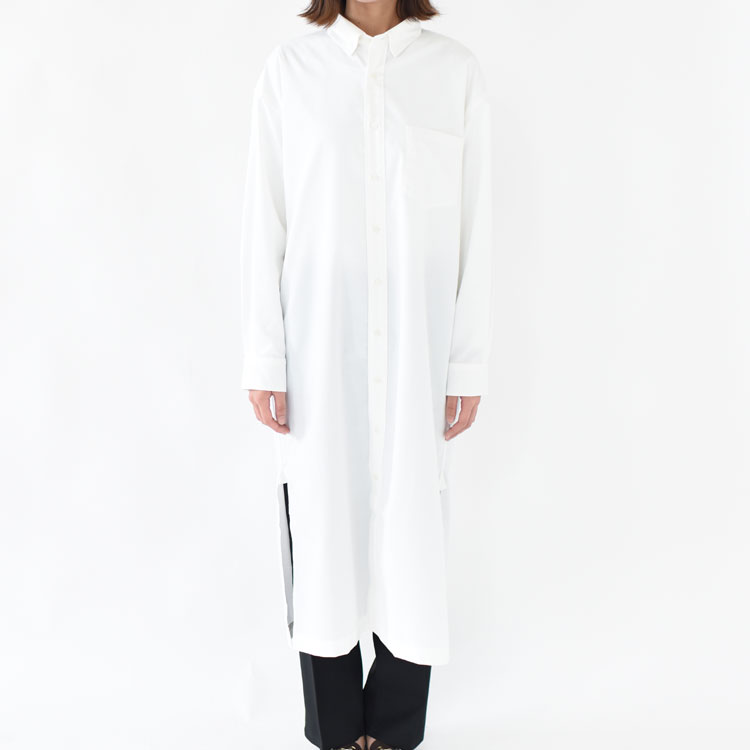 【SALE 30%OFF】MXP(エムエックスピー)/STANDARD OXFORD LONG ONE-PIECE スタンダードオックスフォードロングワンピース【2020秋冬】【返品交換不可】