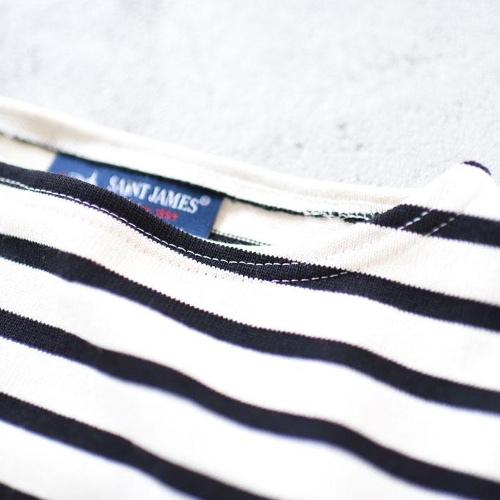 SAINT JAMES(セントジェームス)/OUESSANT ウエッソン エルボーパッチTシャツ/レディース/メンズ/セントジェームス ウエッソン/セントジェームス エルボーパッチ/