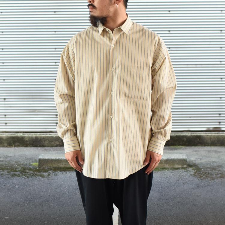 ULTERIOR(アルテリア)/OVERLAID STRIPED SHIRT オーバーレイドストライプシャツ【2021秋冬】