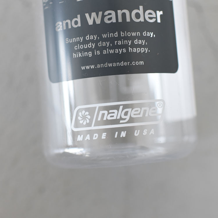 and wander(アンドワンダー)/and wander nalgene bottle アンドワンダーナルゲンボトル【2021春夏】