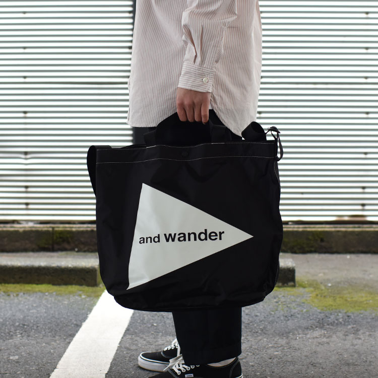 and wander(アンドワンダー)/CORDURA LOGO TOTE L コーデュラロゴトートL【2021春夏】