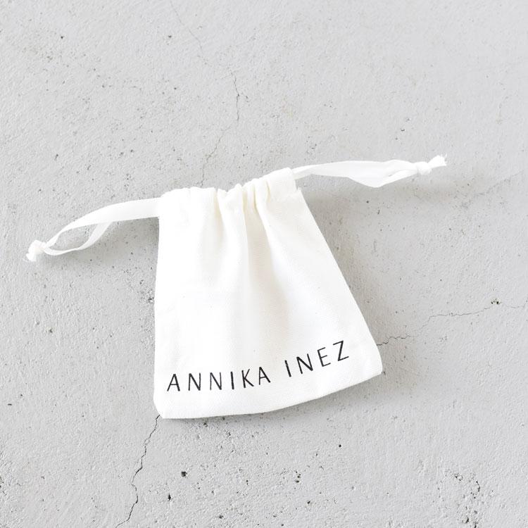 ANNIKA INEZ(アニカイネズ)/DOUBLE DEW EARRING ピアス【2021春夏】【返品交換不可】