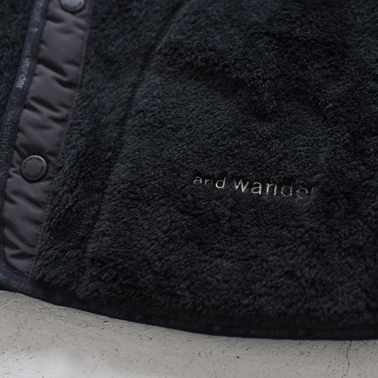 and wander(アンドワンダー)/HIGHLOFTFLEECE LINING JK ハイロフトフリースライニングジャケット【2021秋冬】