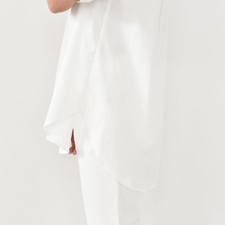 MidiUmi(ミディウミ)/ROUND COLLAR HALF SLV SHIRT ラウンドカラーハーフスリーブシャツ【2021春夏】