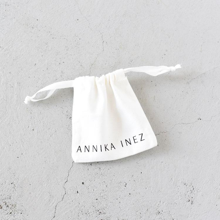 ANNIKA INEZ(アニカイネズ)/GLASSY DUET HOOPS ピアス【2021春夏】【返品交換不可】