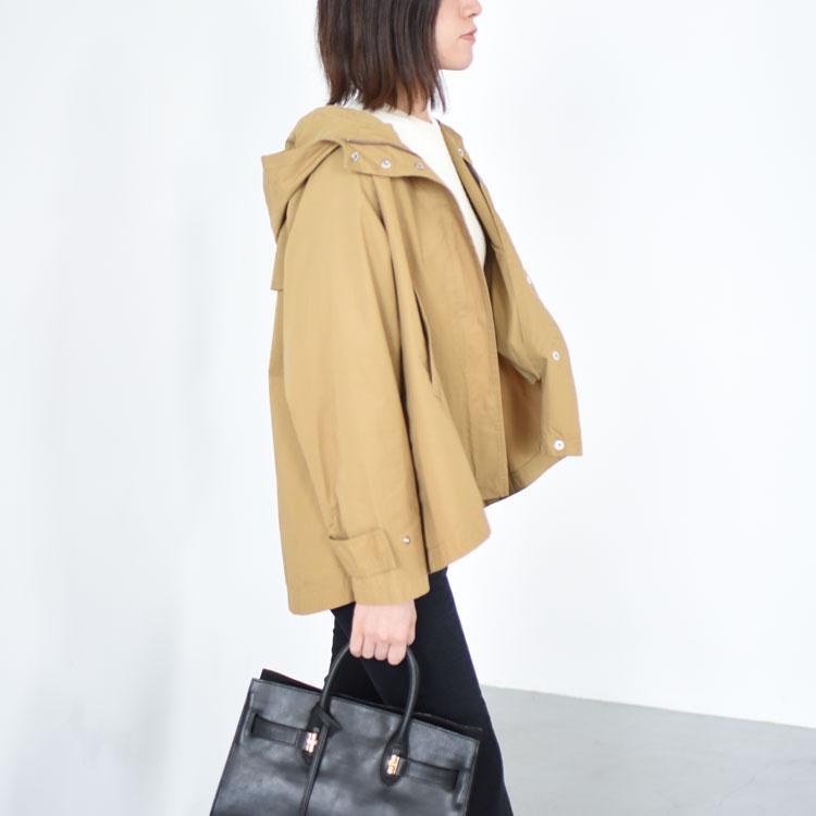 【SALE 20%OFF】MidiUmi(ミディウミ)/hooded flare short coat フーデッドフレアショートコート【2020秋冬】【返品交換不可】