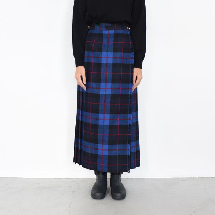 O'NEIL OF DUBLIN(オニールオブダブリン)/MAXI EASY KILT SKIRT マキシイージーキルトスカート【2021秋冬】